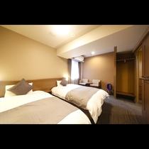 デラックスツインルーム■20平米 ■ベッドサイズ1,200×1,950×2台