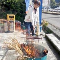 【カツオのタタキ作り】自分で作ったタタキは格別の美味さです♪夕食でお出しします^^