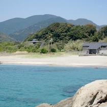 【桜浜】当館目の前には真っ青のキレイな海が広がります♪
