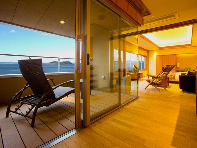 海を望む「プレミアムツイン」客室イメージ