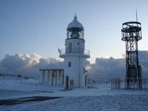 冬の襟裳岬灯台