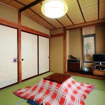 【和室6畳・冬】お部屋の様子