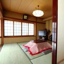 【和室12畳・冬】お部屋の様子