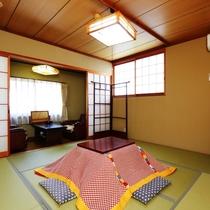 【和室8畳・冬】お部屋の様子