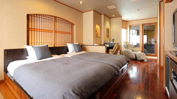 2名専用客室【二人静花】洋室ダブル10畳+広縁+半露天風呂