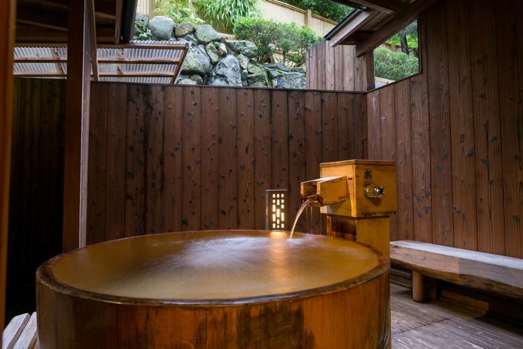 ◆半露天風呂付-星露の間-◆(和室6畳+樽半露天風呂)