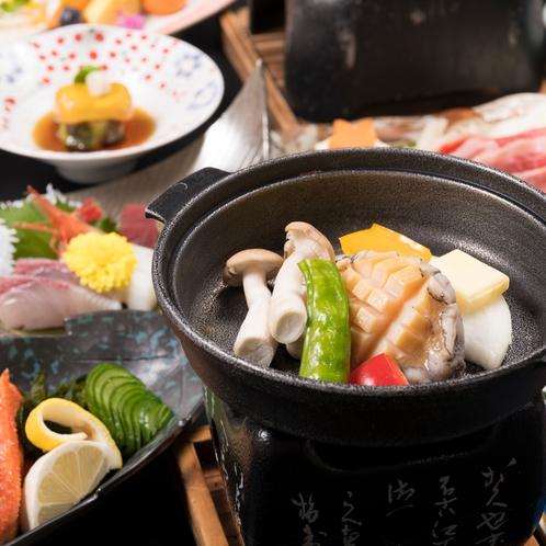 ◆年末会席~鮑陶板焼き~(一例)