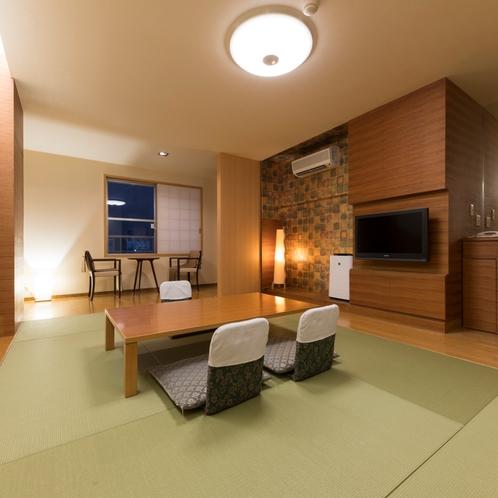 ◆モダン和室8畳401号室夕景