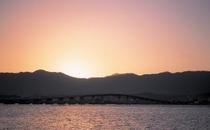 守山市からの琵琶湖大橋