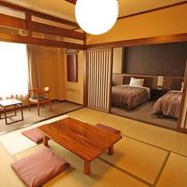 *和洋室 人気の和洋室・新しく作られたベッドルームとあわせると広い贅沢なお部屋となっております。