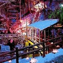 *鹿教湯温泉 氷灯ろう夢祈願 当館から500mの所で開催!毎年12月末~1月末まで開催♪