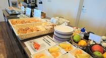 無料の軽朝食(感染症予防対策中)