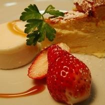 【デザート】チーズケーキ&ごまのブランマンジェ