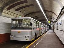立山黒部アルペンルートのトロリーバス