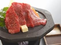 ご夕食赤牛の溶岩焼