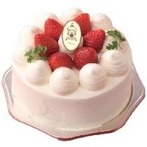 ★記念日・お祝いの日に人気のオプション★生デコレーションケーキ。メッセージも入れられます(イメージ)