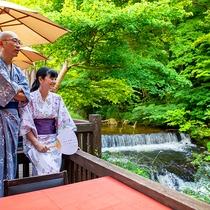 ■水辺のダイニング 川どこ■春の桜から始まり、新緑、紅葉と美しい渓谷美に包まれます。