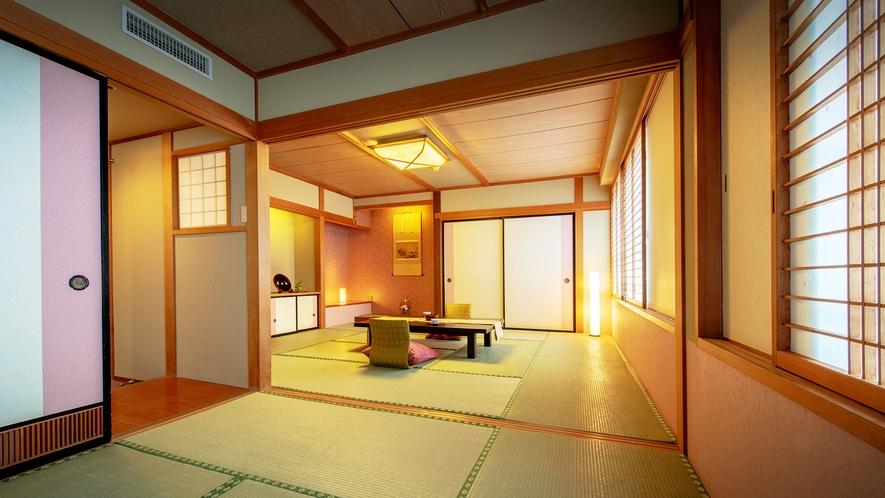 ■【二間和室 10畳+6畳】■グループやご家族におすすめの二間続きの和室です。
