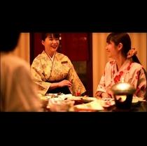 ダイニング瀧川*季節の新鮮食材を使用したお手前料理。先付・お造り・鍋などをお席にご用意