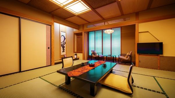 【和洋室 和室10畳+ツイン ◇禁煙】ご家族で寛げる快適空間
