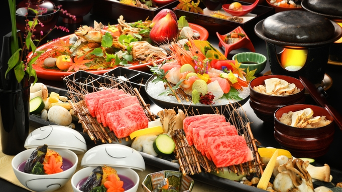 ■今昔亭肉会席 -竹-■売れ筋人気No1 !料理長が吟味した特選牛食べ比べプラン【個室会場食】