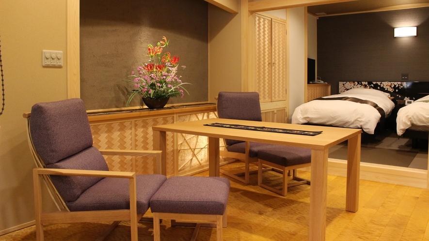 【桜の間】富山の職人の匠技光る、温泉付客室