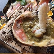 本ずわいの蟹味噌焼き