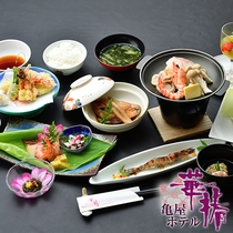 【レストラン料理/おまかせコース】/一例。その日の旬の素材を板長が吟味。