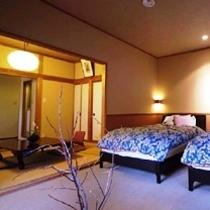 和洋室(和室6畳・ベッドルーム、バス・トイレ有)