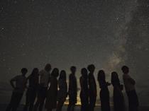 プライベートビーチから眺める満点の星空