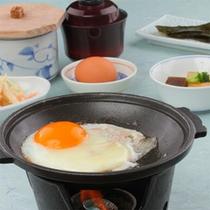 朝食一例(ハム&エッグ)