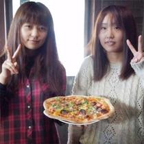 冬ならではの美味しい体験♪牡蠣入りピザ作り