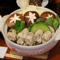 ご夕食の牡蠣鍋イメージです