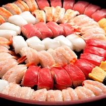 夕食バイキング料理一例 寿司