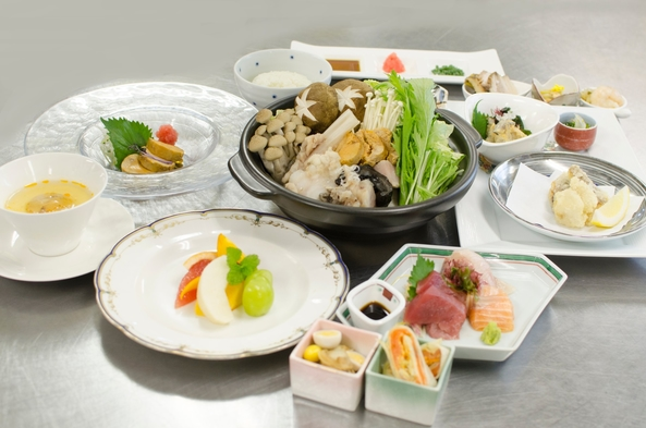 【あんこうづくし鍋プラン】茨城の冬贅沢グルメ!あんこうづくしの料理と旬魚のお造りを堪能《2食付》