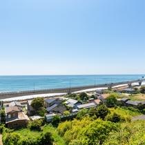 【眺望】日立駅から眺める海