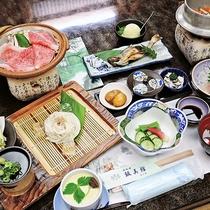 *【ご夕食一例】地元の食材を使った郷土料理