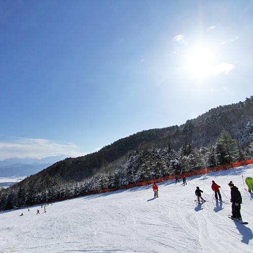 *伊那スキーリゾートは晴天率80%(イメージ)