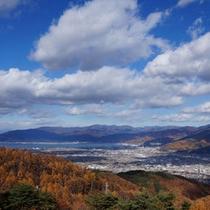 *【杖突峠】諏訪湖を望む秋の眺望(当館より車で約30分)