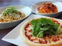 日帰り利用が出来るレストラン「古城」でご提供しているイタリアンランチの品々