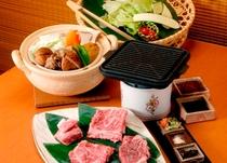 松阪牛鉄板焼きと野菜温泉蒸し