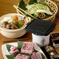 *【夕食一例:榊コース】源泉を利用した温泉野菜蒸し&松坂牛