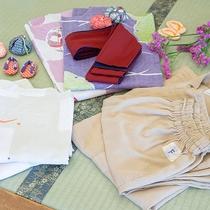 *【浴衣・作務衣(さむえ)】女性におすすめの色浴衣や、動きやすい作務衣もご用意しています
