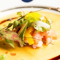季節の和食膳・料理例/洋皿一例