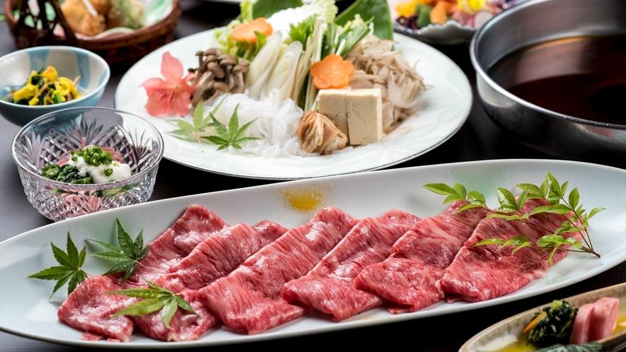 【すき焼き一例】栄養のバランスも良く人気のメニュー!