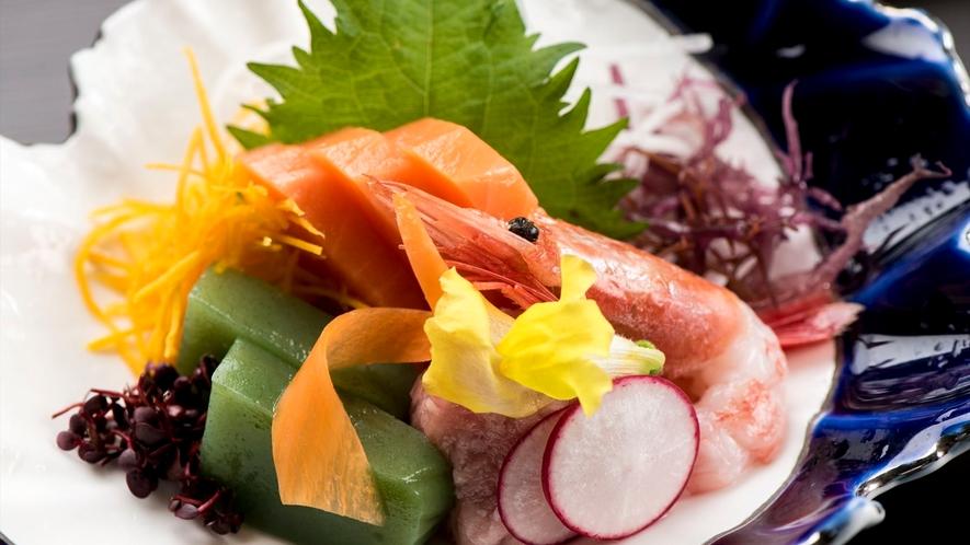 季節の和食膳・料理例/刺身例