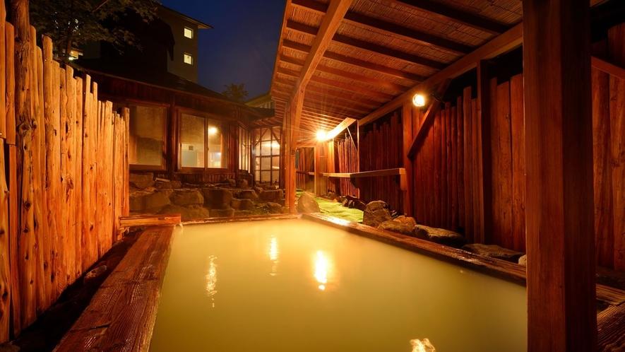【露天風呂】夜の葉がくれの湯