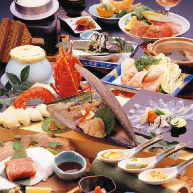 【三重堪能会席】松阪牛・伊勢海老・鮑など三重の美味を堪能。《貸切風呂特典付》