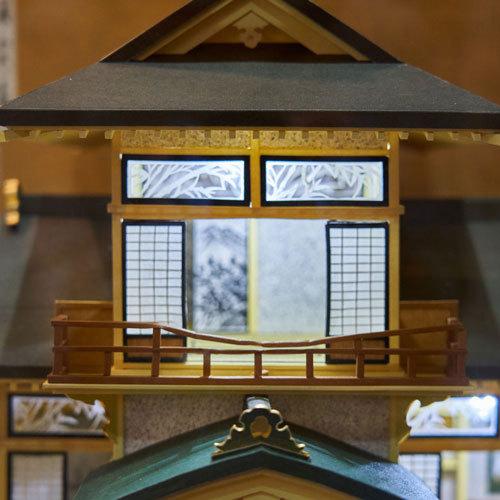 館内に飾ってある八千代座のミニチュアモデル