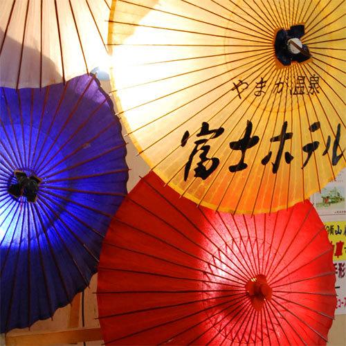 館内の傘*